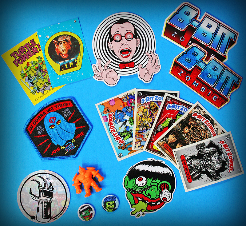 8-Bit Zombie Power Packs feature custom stickers by StandOut Stickers