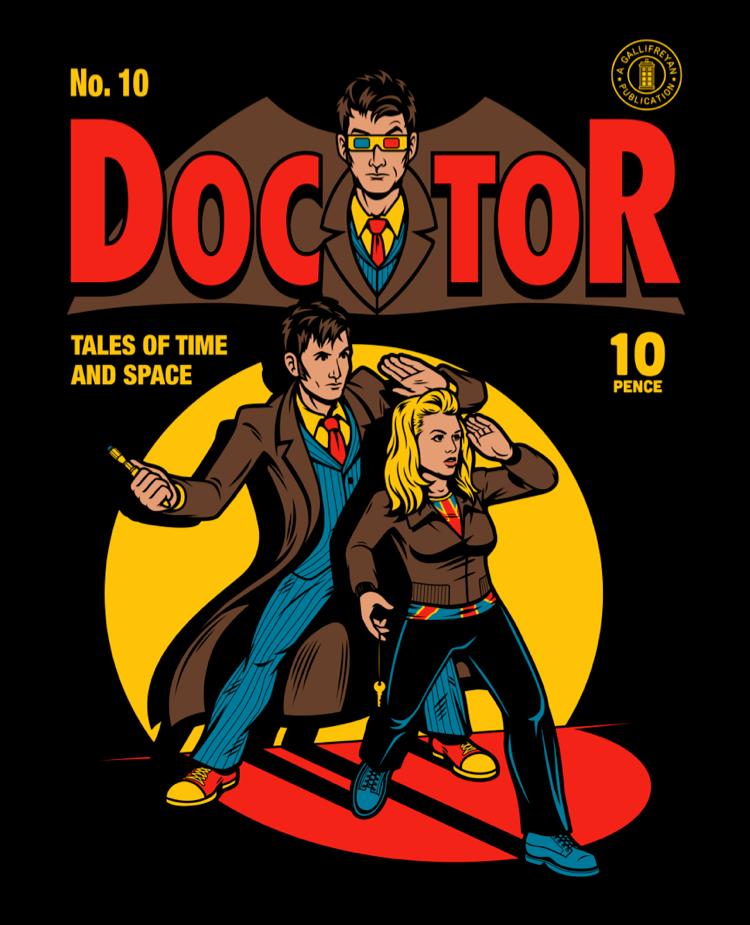 Doctor Who Batman Parody Shirt