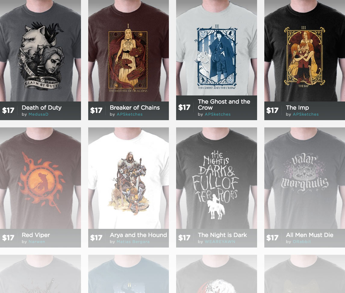 TeeFury Game of Thrones