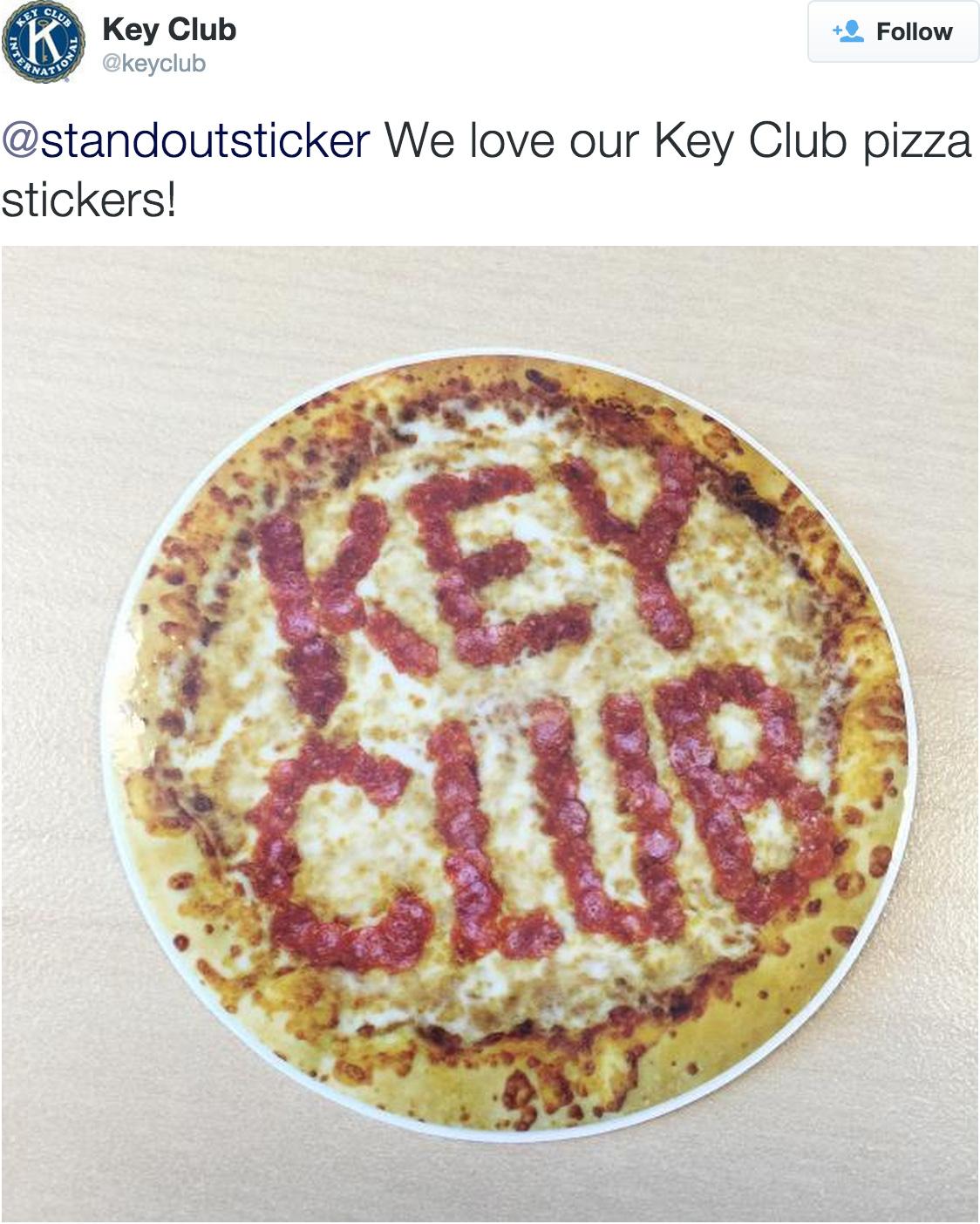 Custom Stickers for Key Club