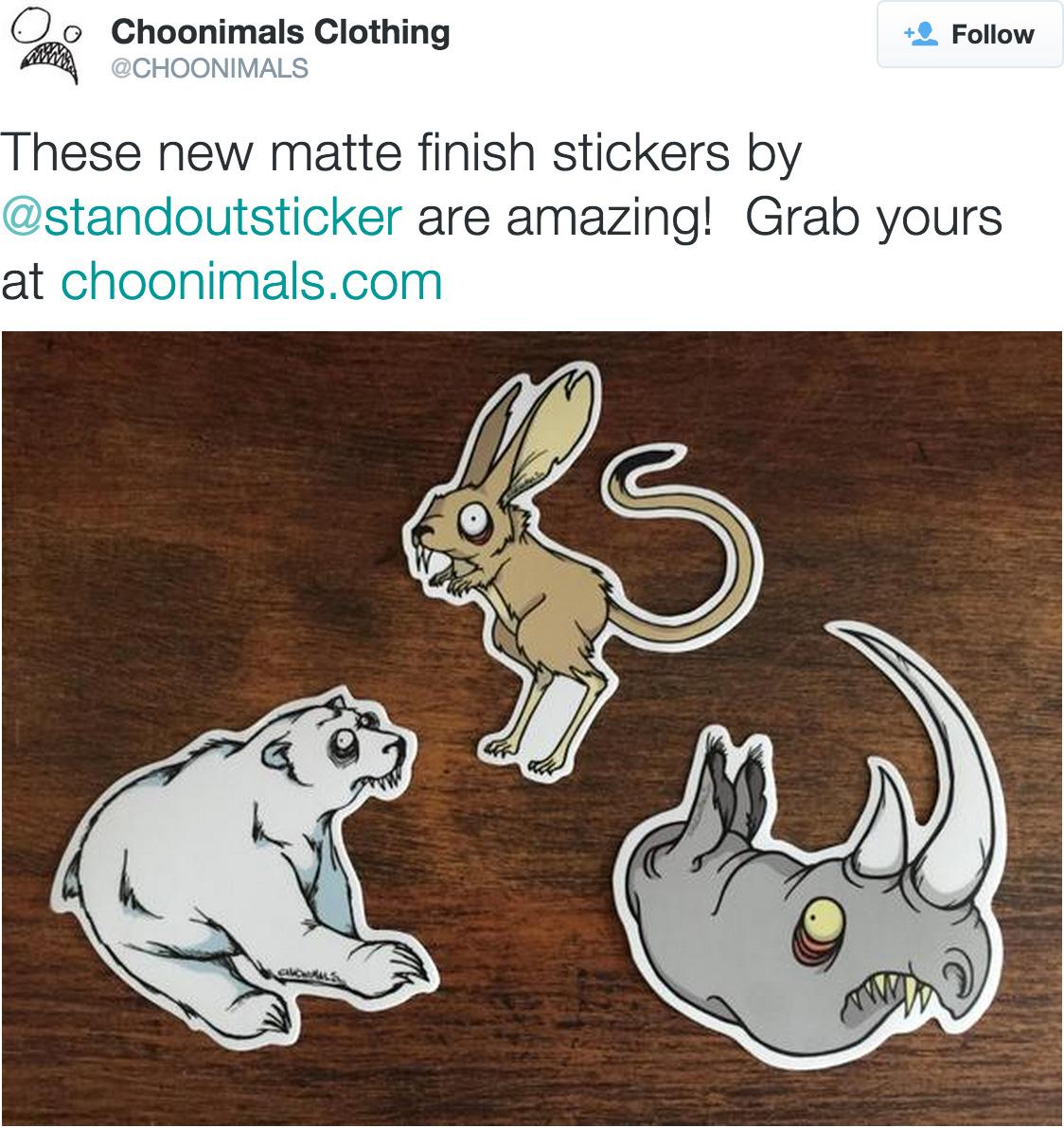 Custom Stickers for Choonimals Clothing