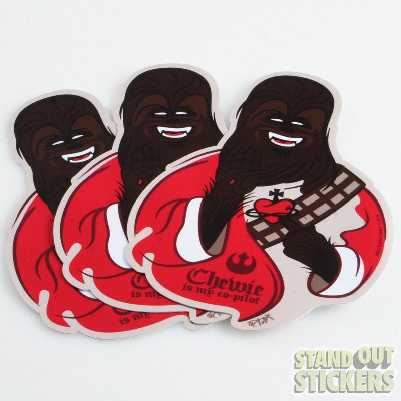 Die Cut Chewbacca Stickers