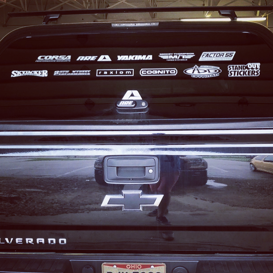 Cut Vinyl Decal Installation on Chevy Silverado by Volant Performance