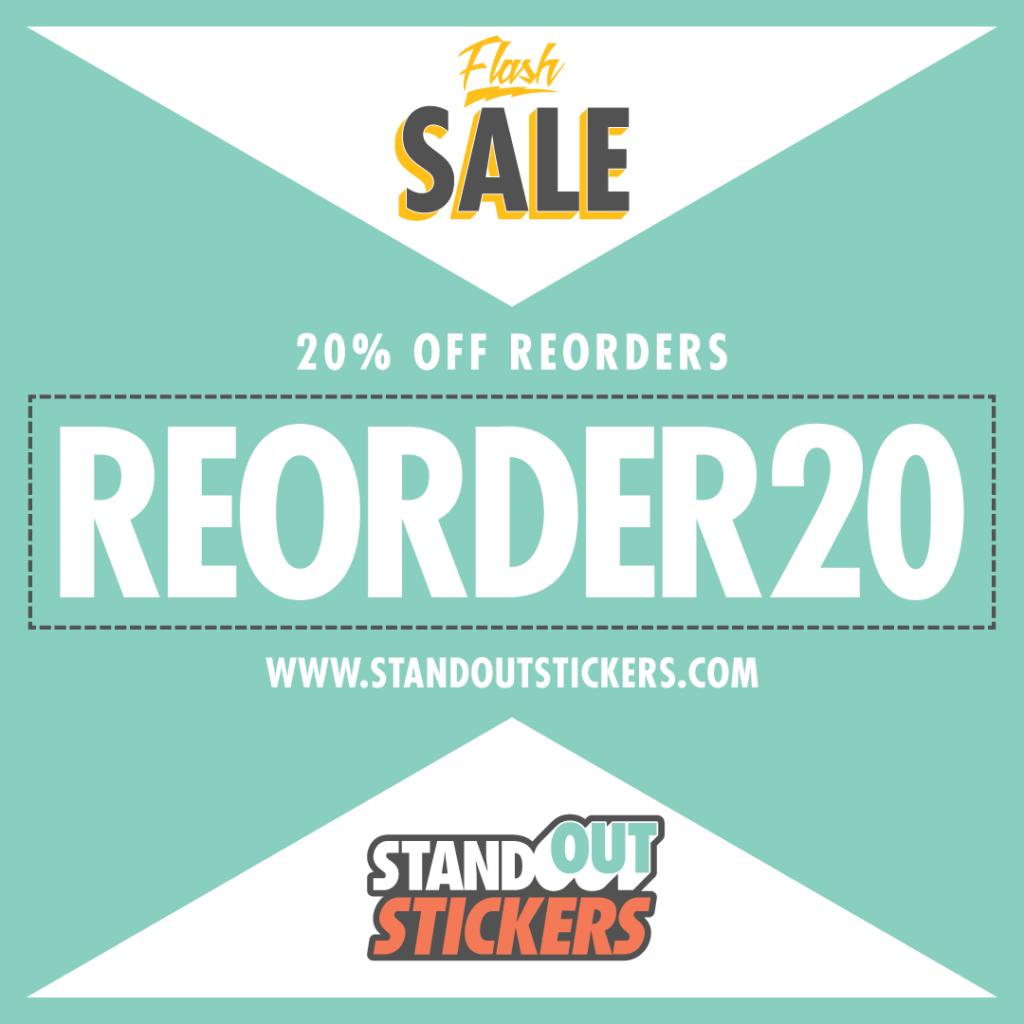 20% OFF Sticker Reorders