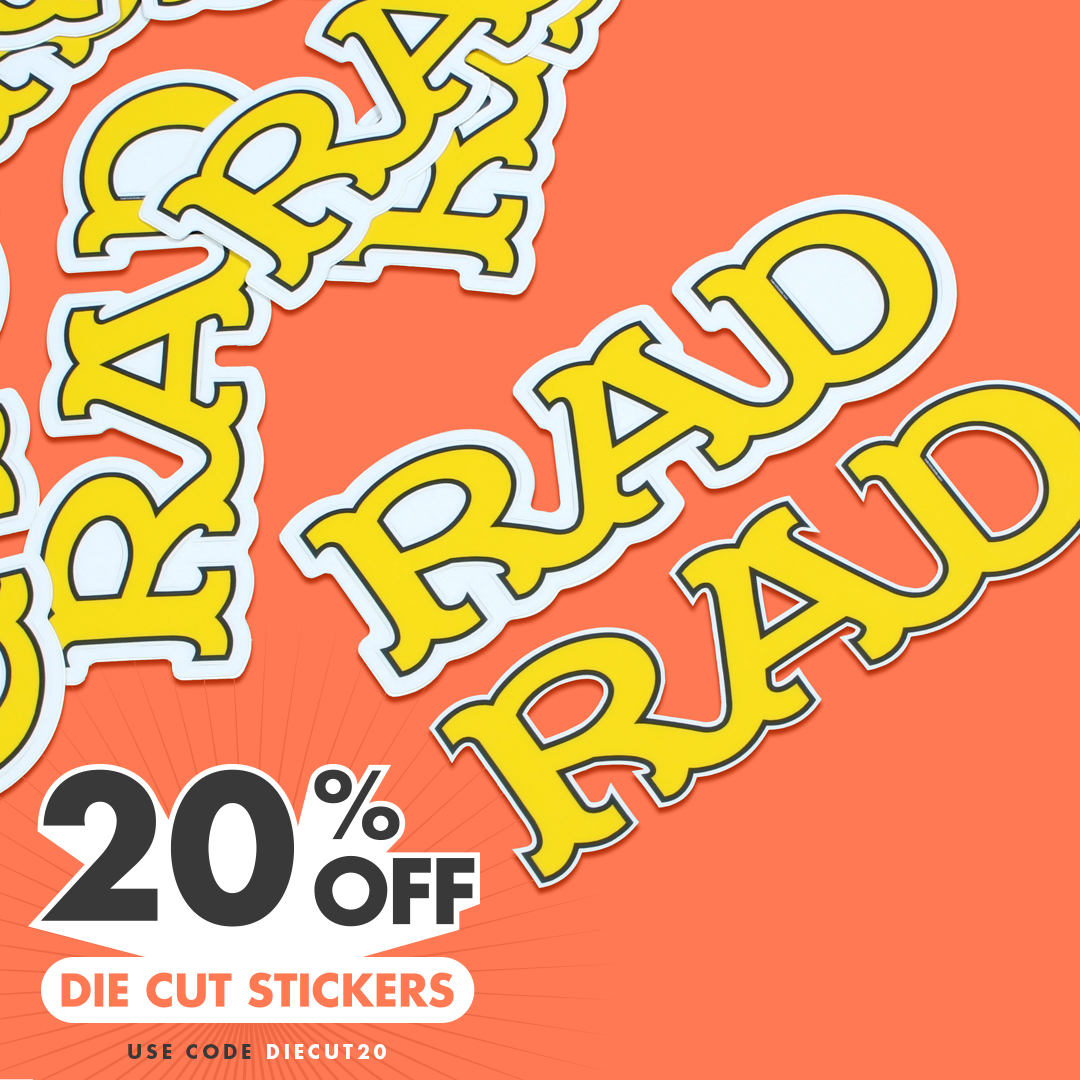 Die Cut Stickers 20% Off with code DIECUT20