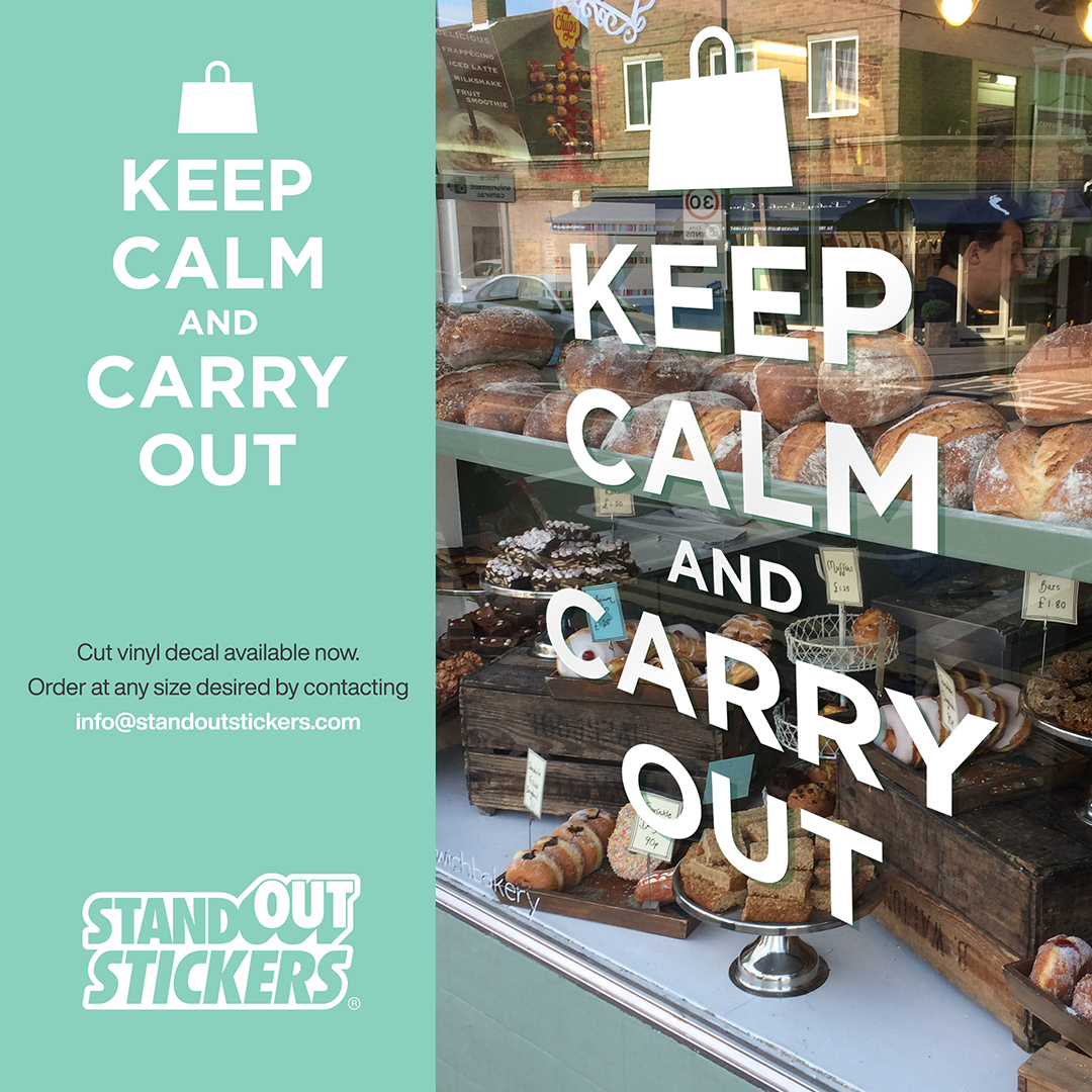 Keep Calm and Carry Out Decal