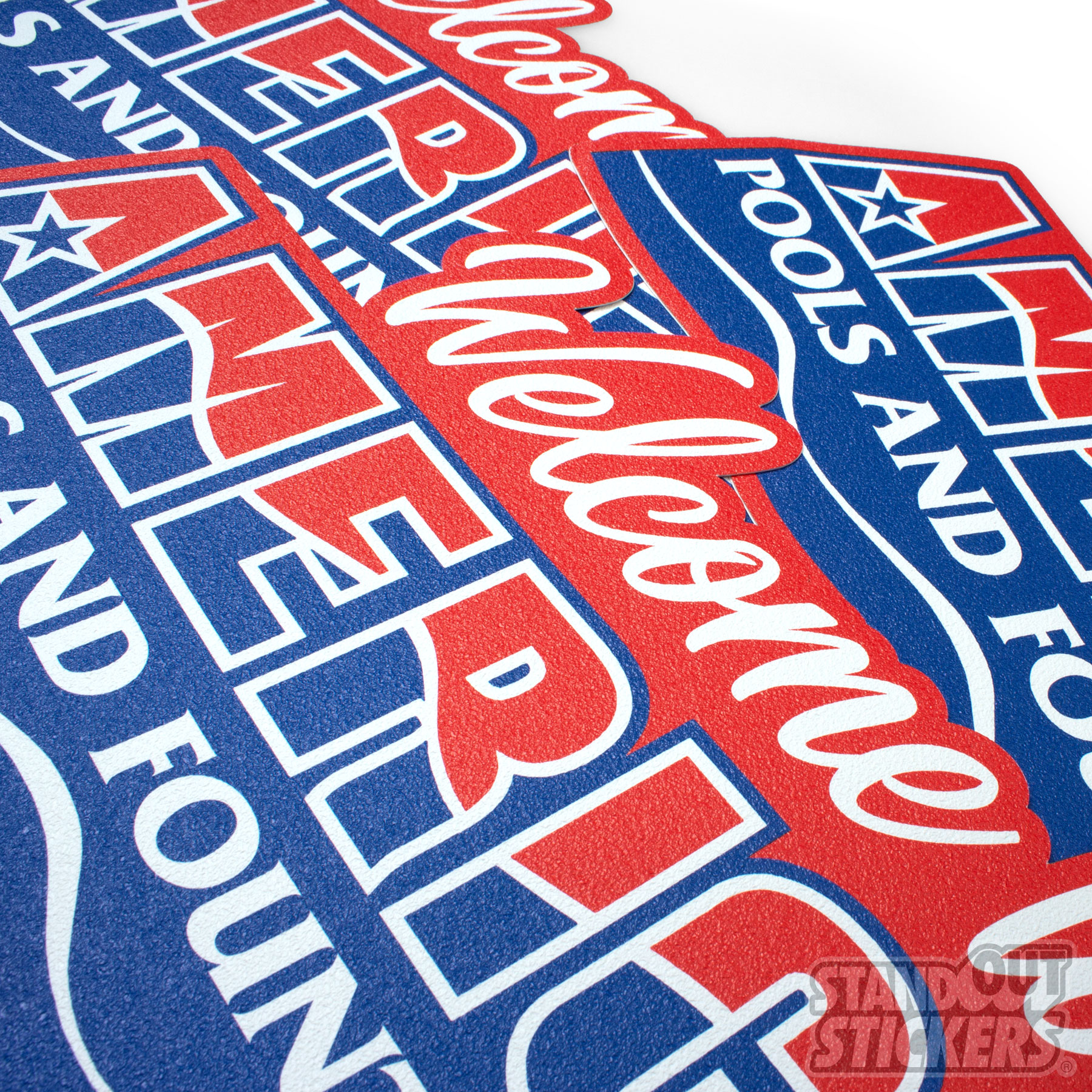 Welcome To American Pool and Fountain Die Cut Floor Decals