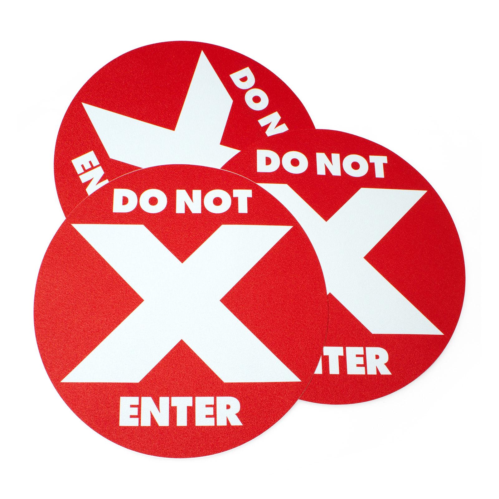 Do Not Enter Floor Decals