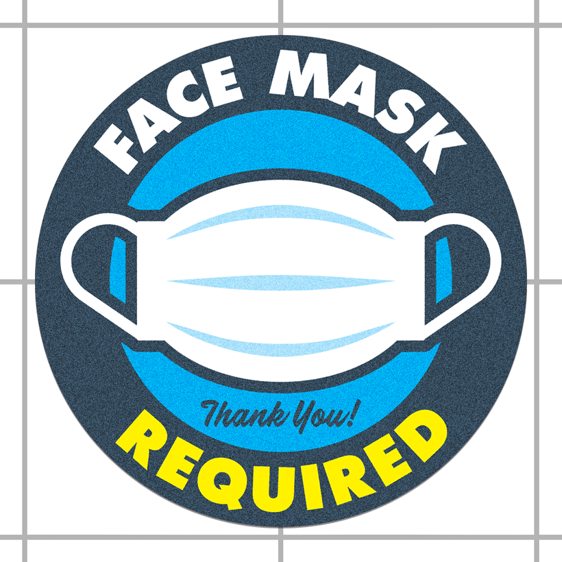 Face Mask Required Floor Decals