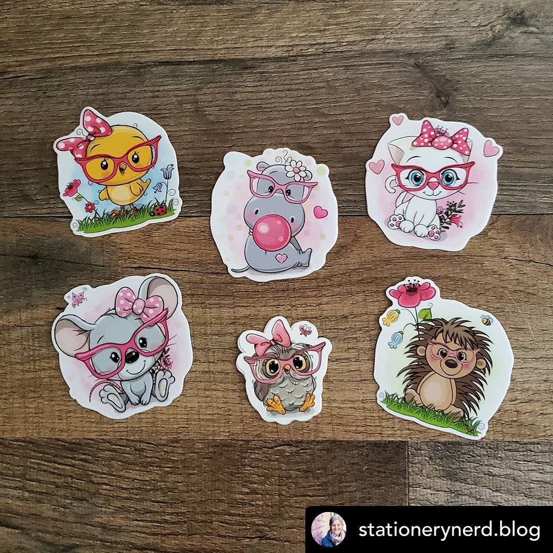 Cute Custom Stickers by Stationery Nerd