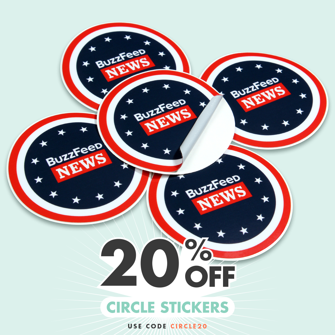 20% OFF Round Stickers with coupon code CIRCLE20