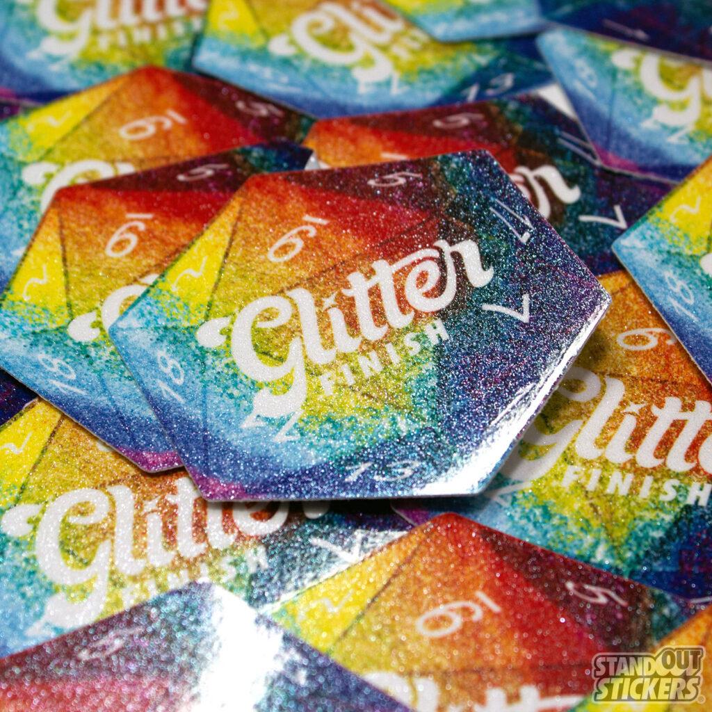 Custom Glitter Stickers D20