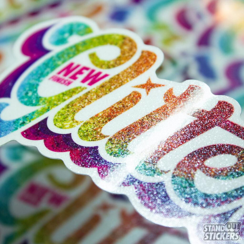 Custom Glitter Stickers