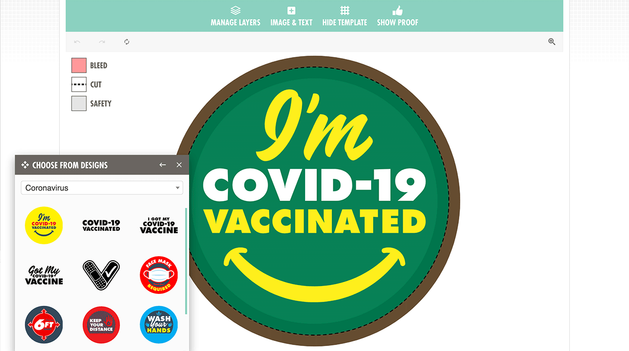 Coronavirus Stickers Graphics in the StandOut Stickers Art Tool